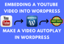 Embedding a YouTube Video In WordPress Website | Autoplay