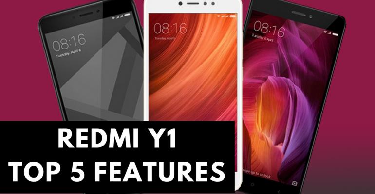 redmi y1 top 5 features