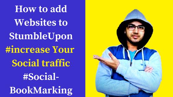 Add websites to stumbleupon using quick submit method