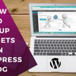 How to Setup Widgets on WordPress Blog Header/Footer/Sidebars