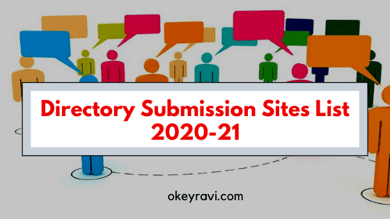 Directory Submission Sites List 2020-2021