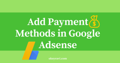 add Payment options in Google Adsense Account