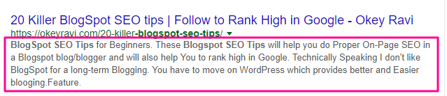 BlogSpot Blogs Seo Tips