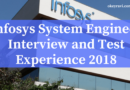 Infosys System Engineer Interview Experience