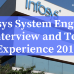 Infosys System Engineer Interview Experience and Test Analysis 2019