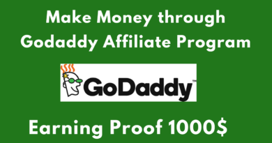 GoDaddy Affiliate Marketing Program Review – 1000$ Proof