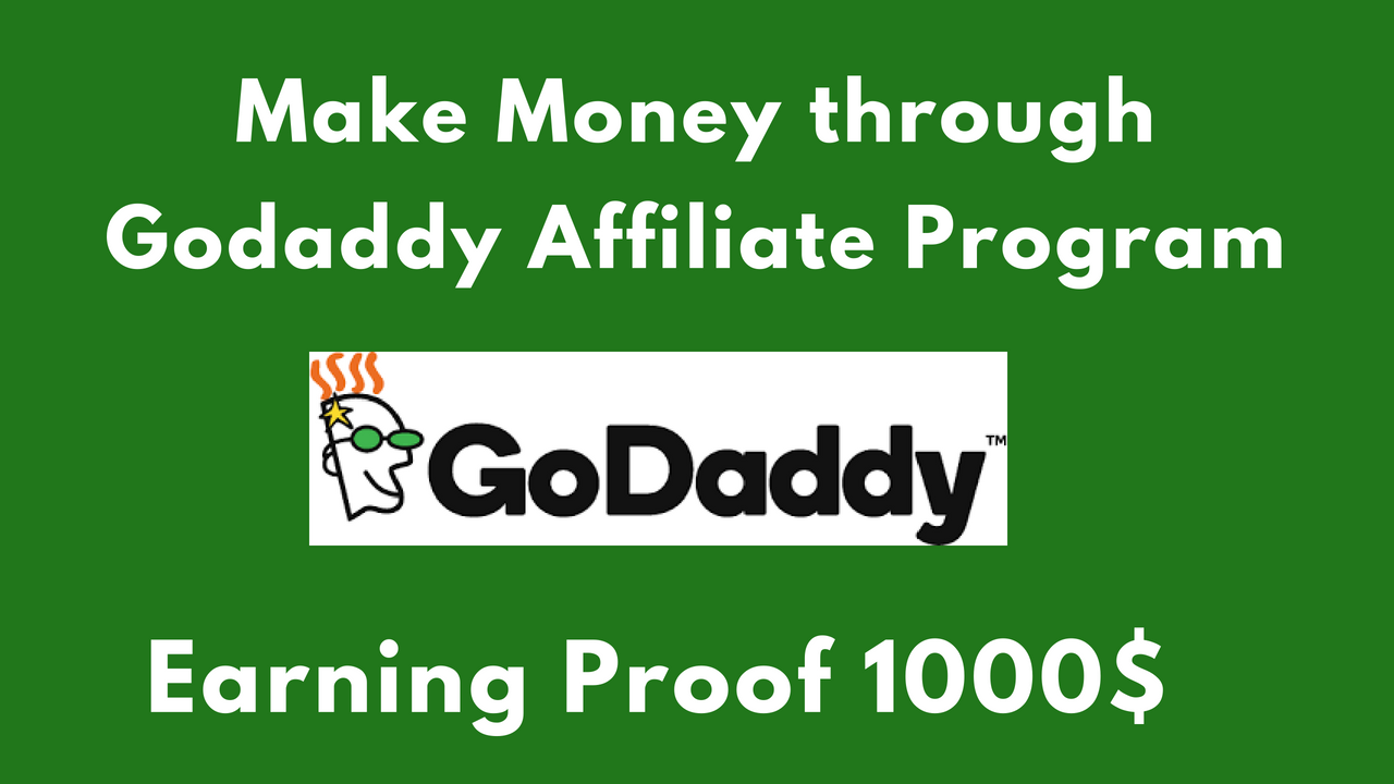 Godaddy affiliate marketing program