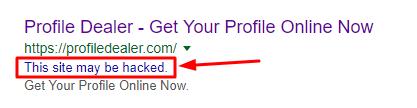 This site may be hacked error fix Okey Ravi (okeyravi.com)