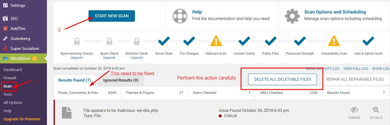 This site may be hacked wordfence result Okey Ravi SEO (okeyravi.com)