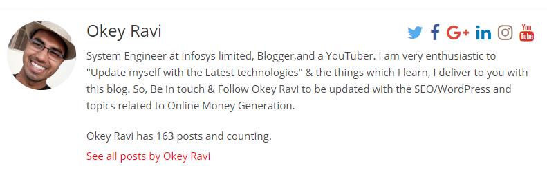Okey Ravi Author Box
