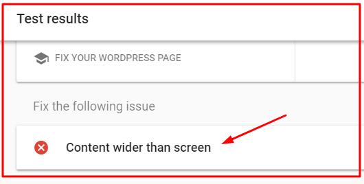 Content Wider than Screen Mobile friendliness test error fix by Okey ravi