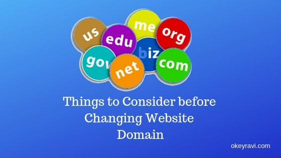 Things to consider before changing website domain