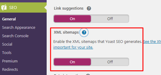 XML sitemap enabling in Yoast by Okey Ravi