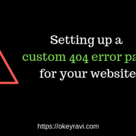 Setting up a custom 404 page for your website