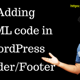Adding HTMl code in WordPress Header or Footer