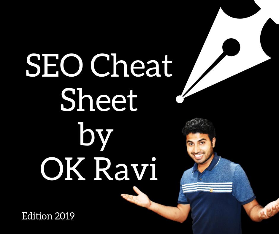 SEO Cheat Sheet By Okey Ravi Free Download