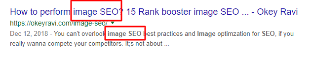 including main keyword in the SEO title, url and the meta description