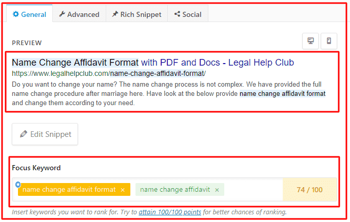 Advance feature in Rank Math SEO plugin