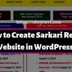 How to Create a Job Website Like Sarkari Result in WordPress?