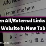 Open All Links/External Links of a website in New Tab/Window