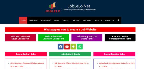 Joblelonet Sarkari Result Job Portal