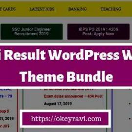 Sarkari Result WordPress Theme Bundle Free Download