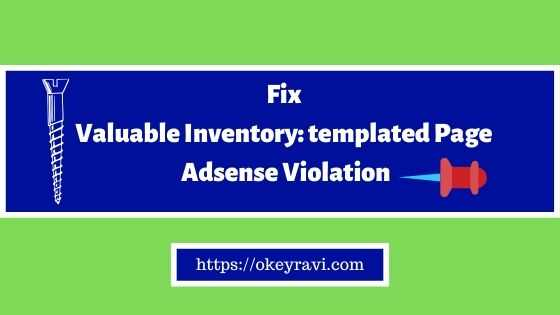 Fix valuable inventory templated page adsense violation
