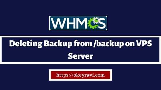 Deleting backup directory backup from VPS Server