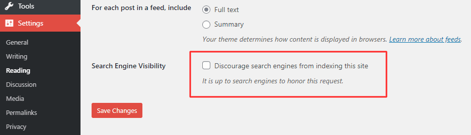 Discourage Search Engine to index this website